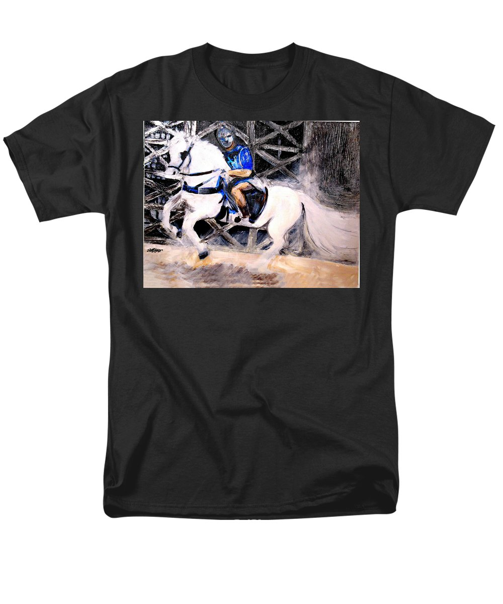 Acrylic On Canvas Men's T-Shirt (Regular Fit) featuring the painting Coliseum Games by Seth Weaver
