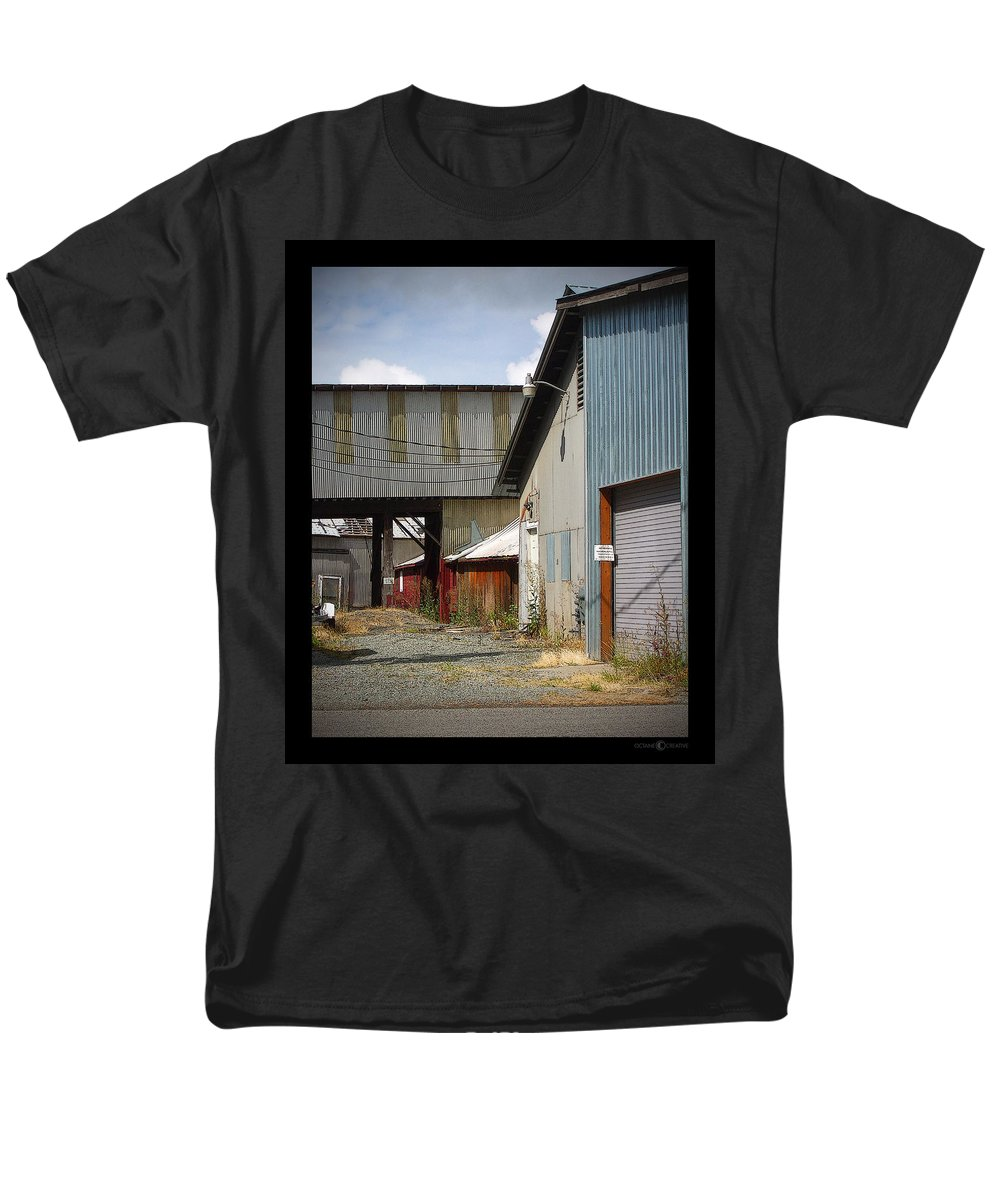 Corrugated Men's T-Shirt (Regular Fit) featuring the photograph Corrugated by Tim Nyberg