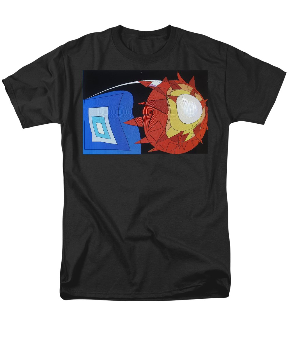 Abstract Men's T-Shirt (Regular Fit) featuring the digital art Crescendo One by Ian MacDonald