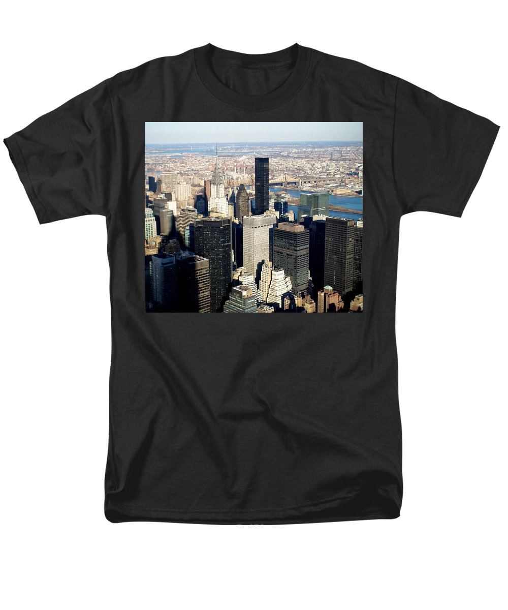 Crystler Building Men's T-Shirt (Regular Fit) featuring the photograph Crystler Building 2 by Anita Burgermeister