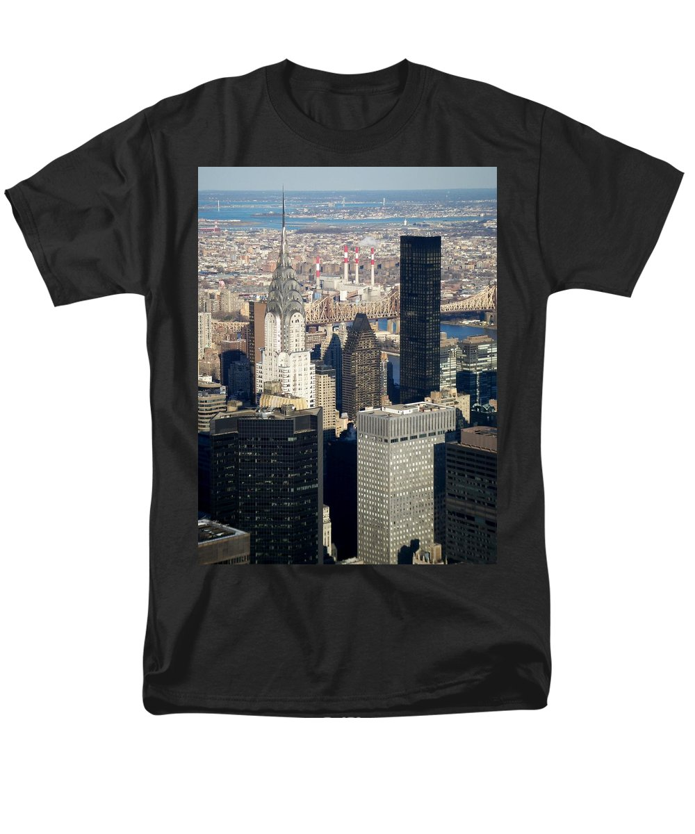 Crystler Building Men's T-Shirt (Regular Fit) featuring the photograph Crystler Building by Anita Burgermeister