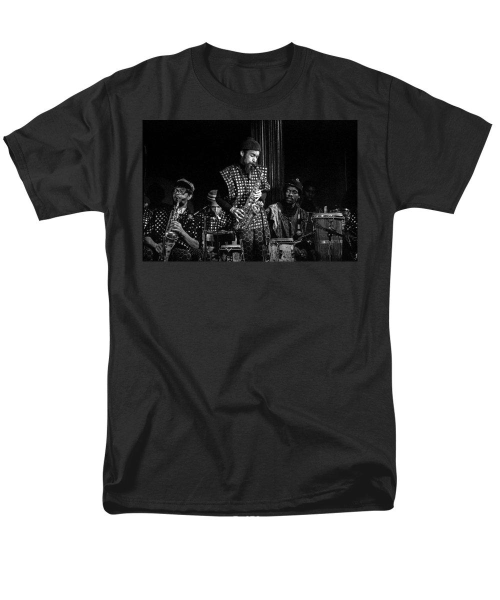 Jazz Men's T-Shirt (Regular Fit) featuring the photograph Danny Davis with Sun Ra Arkestra by Lee Santa