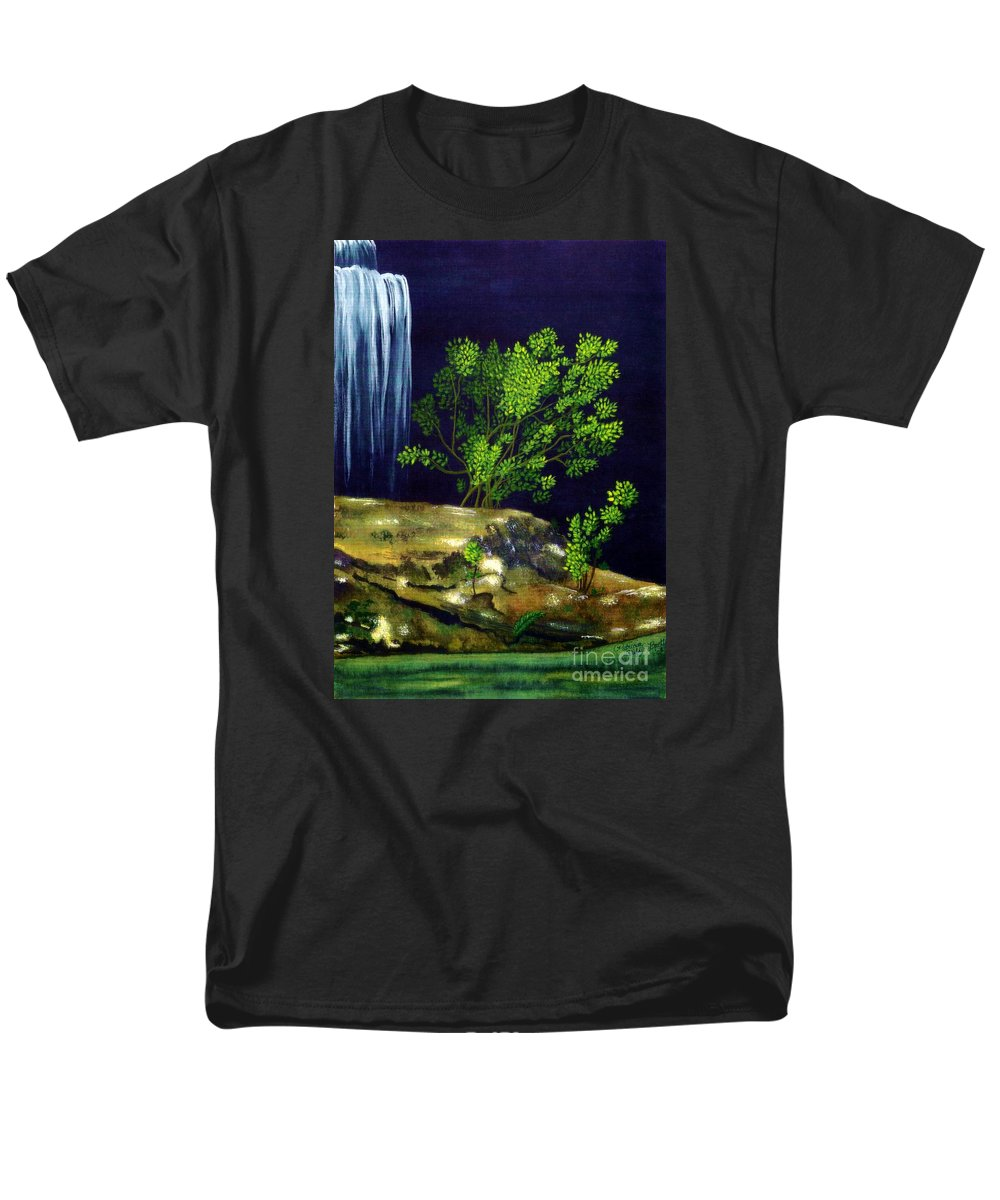 Fine Art Men's T-Shirt (Regular Fit) featuring the painting Dark Waters by Patricia Griffin Brett