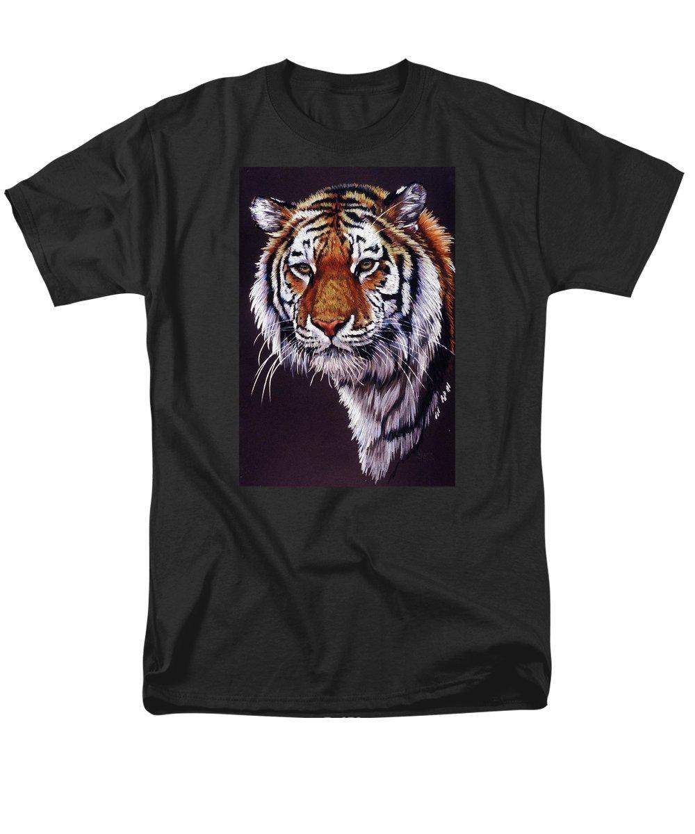 Tiger Men's T-Shirt (Regular Fit) featuring the drawing Desperado by Barbara Keith