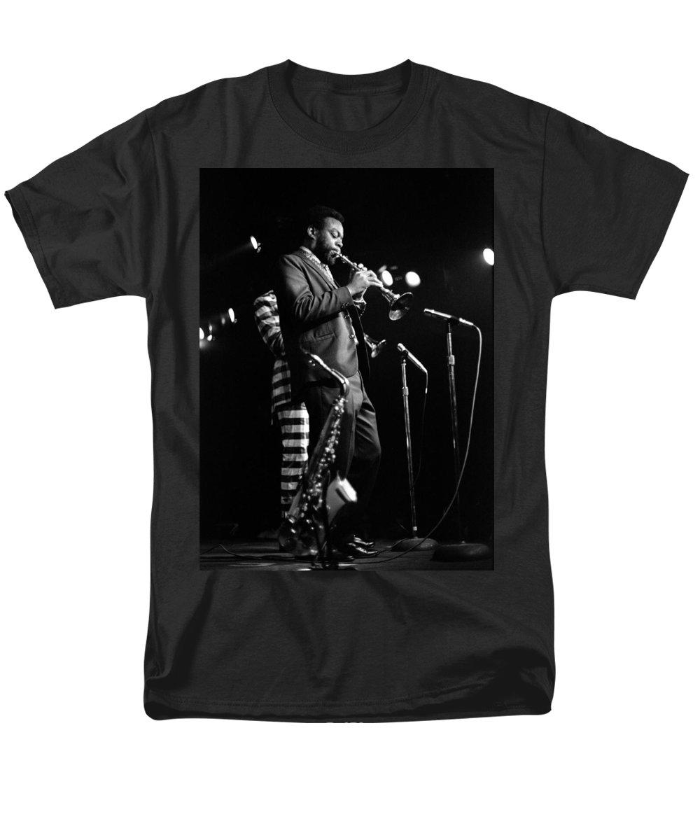 Ornette Coleman Men's T-Shirt (Regular Fit) featuring the photograph Dewey Redman on Musette by Lee Santa