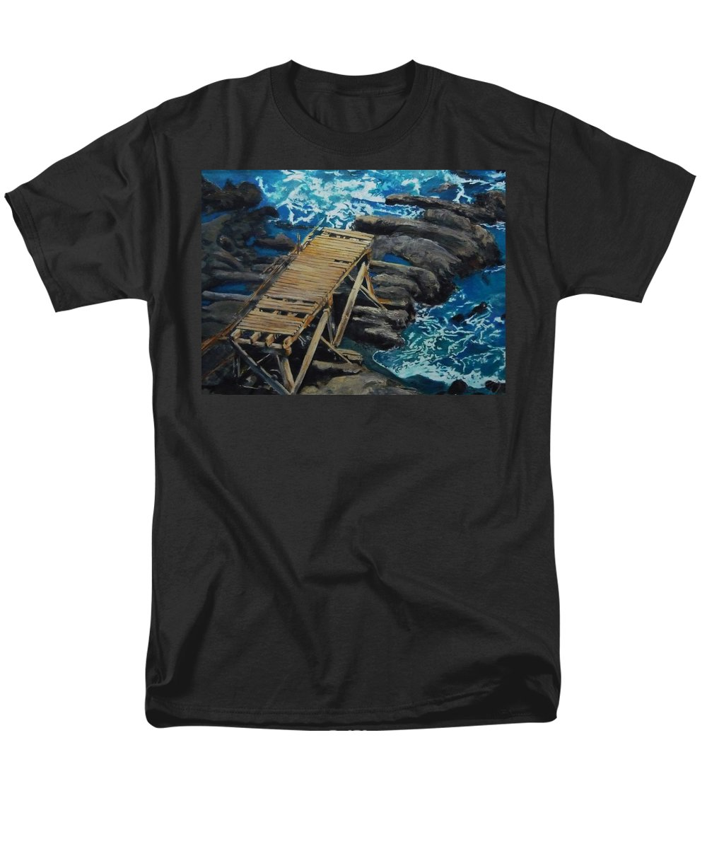Dock Men's T-Shirt (Regular Fit) featuring the painting Dock by Travis Day