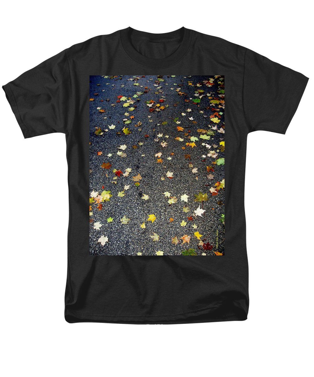 Leaves Men's T-Shirt (Regular Fit) featuring the photograph Fall Sparkle by Deborah Crew-Johnson