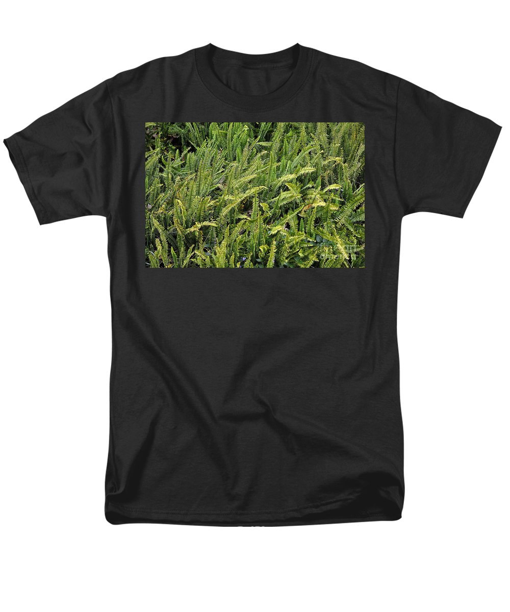 Clay Men's T-Shirt (Regular Fit) featuring the photograph Fern by Clayton Bruster