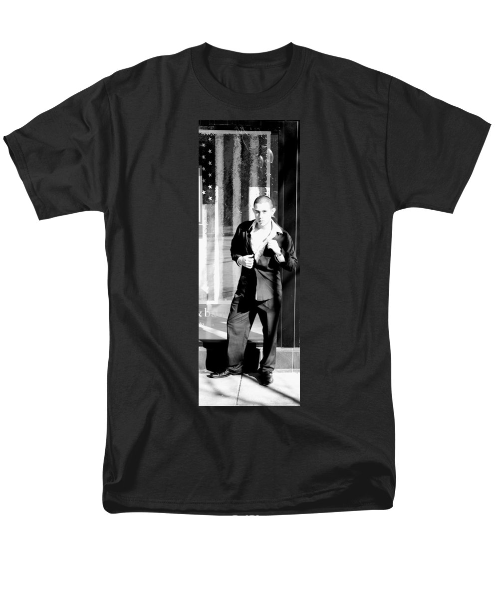 America Men's T-Shirt (Regular Fit) featuring the photograph Fine American Model by Angus Hooper Iii