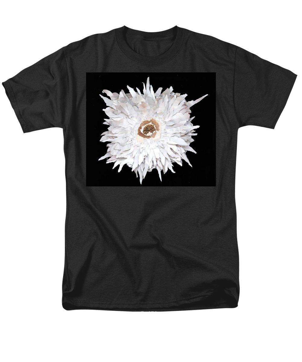 Flower Men's T-Shirt (Regular Fit) featuring the mixed media Flower by Jaime Becker