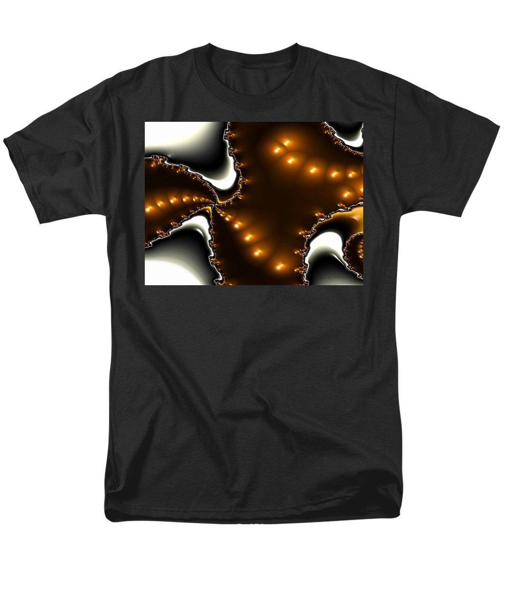 Nest Eggs Fractals Jewels Men's T-Shirt (Regular Fit) featuring the digital art Fractal 2 by Veronica Jackson