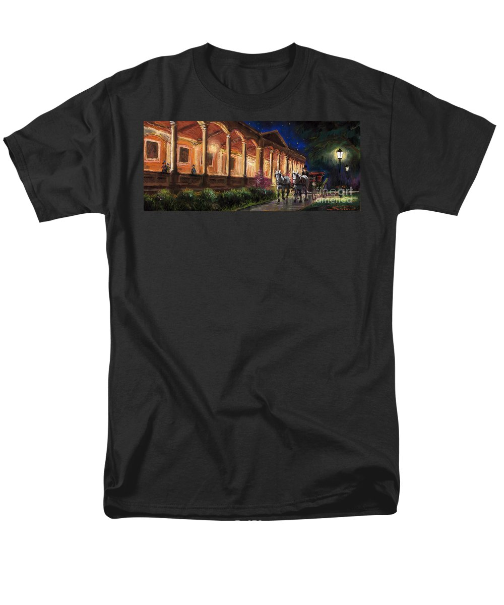 Pastel Men's T-Shirt (Regular Fit) featuring the painting Germany Baden-Baden 13 by Yuriy Shevchuk