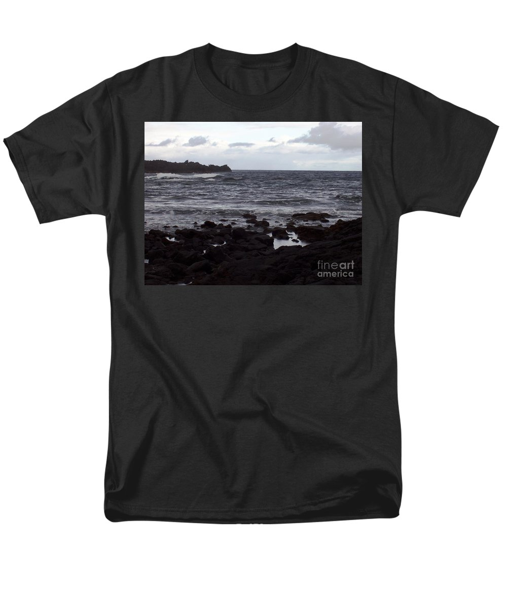 Water Men's T-Shirt (Regular Fit) featuring the photograph Grayscale by Deborah Crew-Johnson
