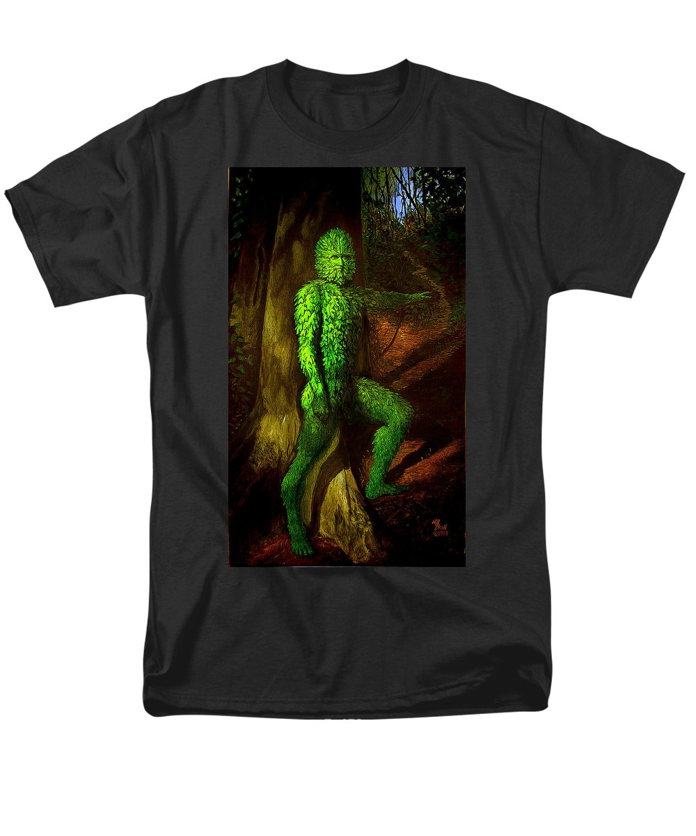 Myth Men's T-Shirt (Regular Fit) featuring the mixed media Greenman by Will Brown