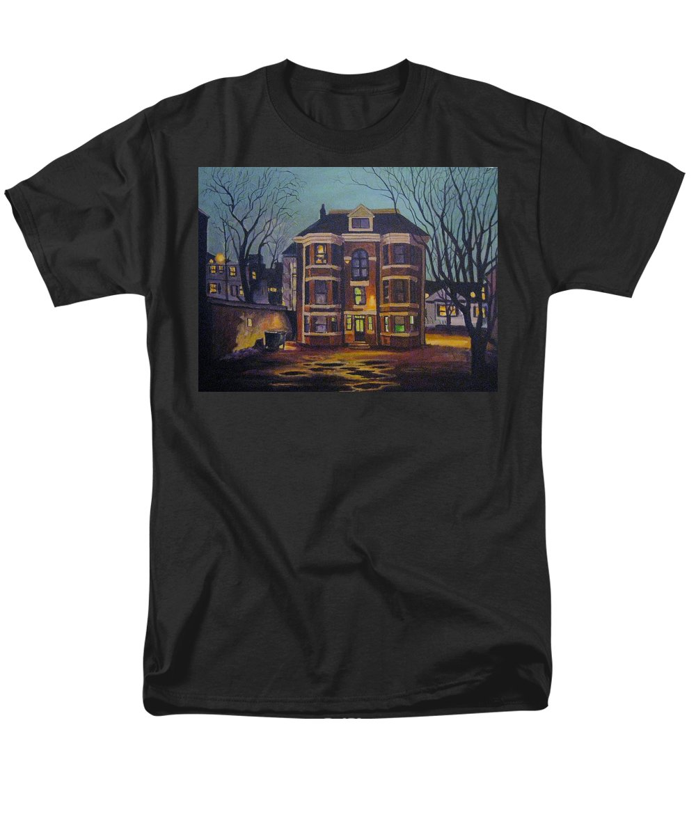 Moody Men's T-Shirt (Regular Fit) featuring the painting Historic Property South End Haifax by John Malone