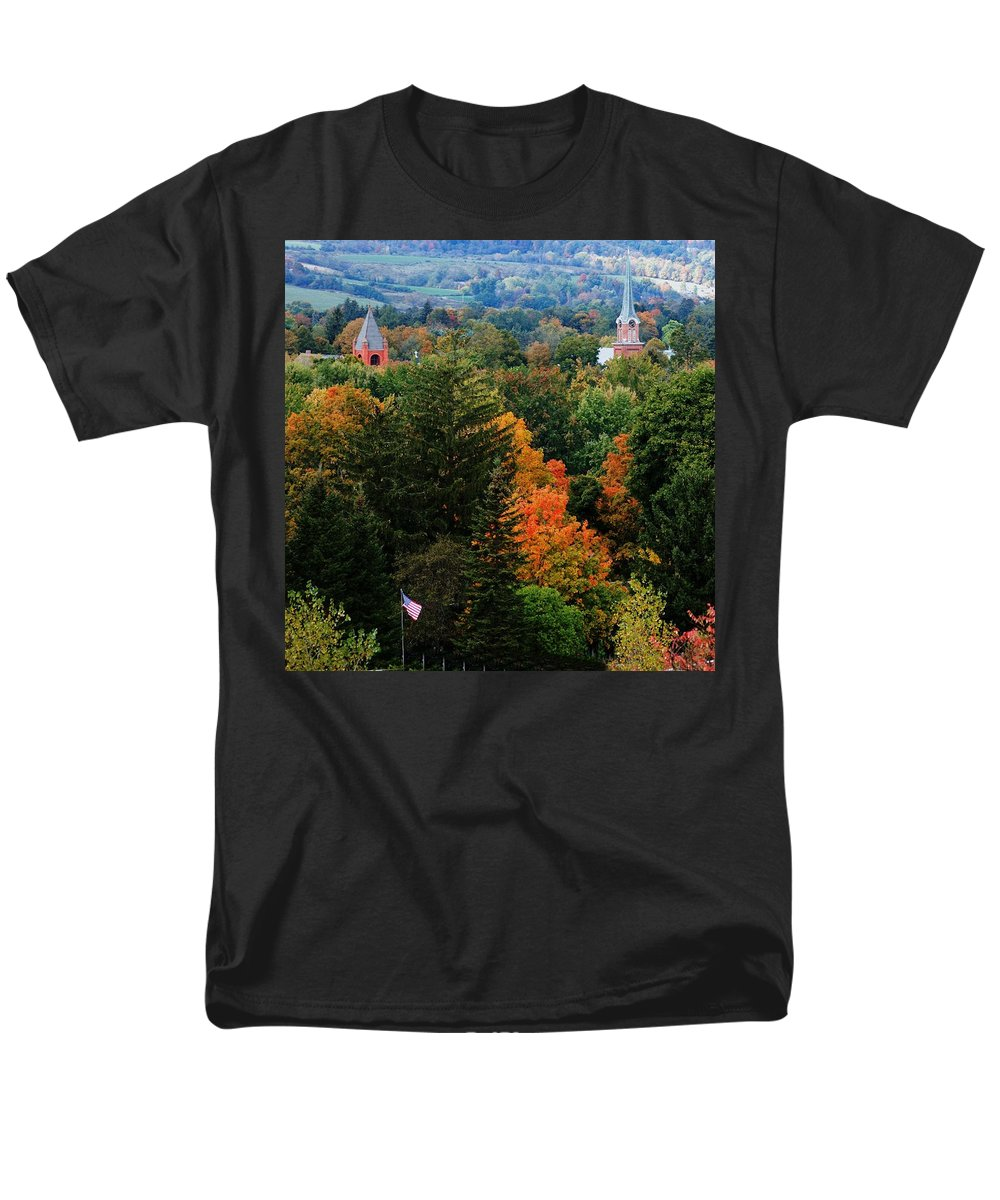 Landscape Men's T-Shirt (Regular Fit) featuring the photograph Homer NY by David Lane