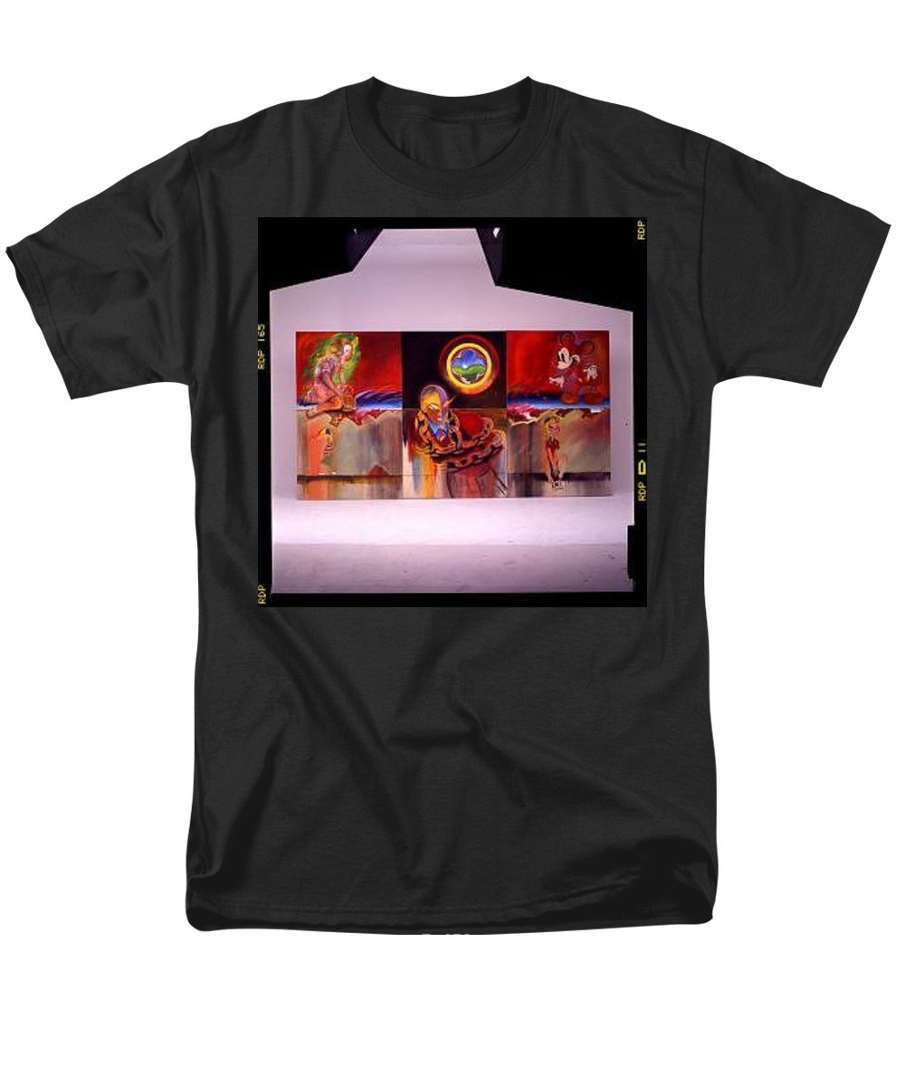 Spiderman Men's T-Shirt (Regular Fit) featuring the painting I Saw The Figure Five In Gold by Charles Stuart