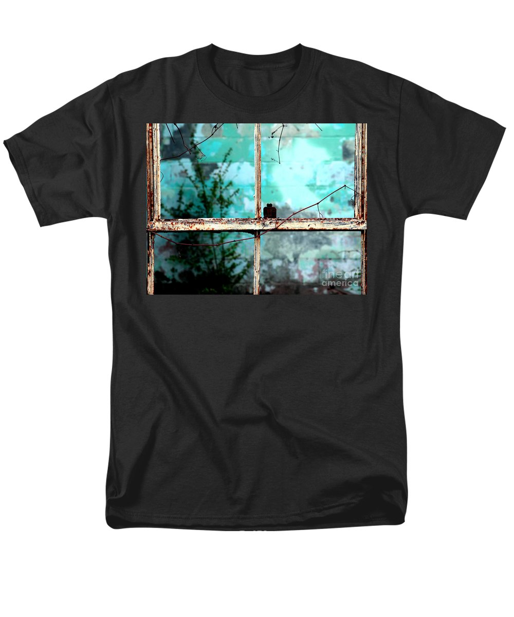 Windows Men's T-Shirt (Regular Fit) featuring the photograph In or out by Amanda Barcon