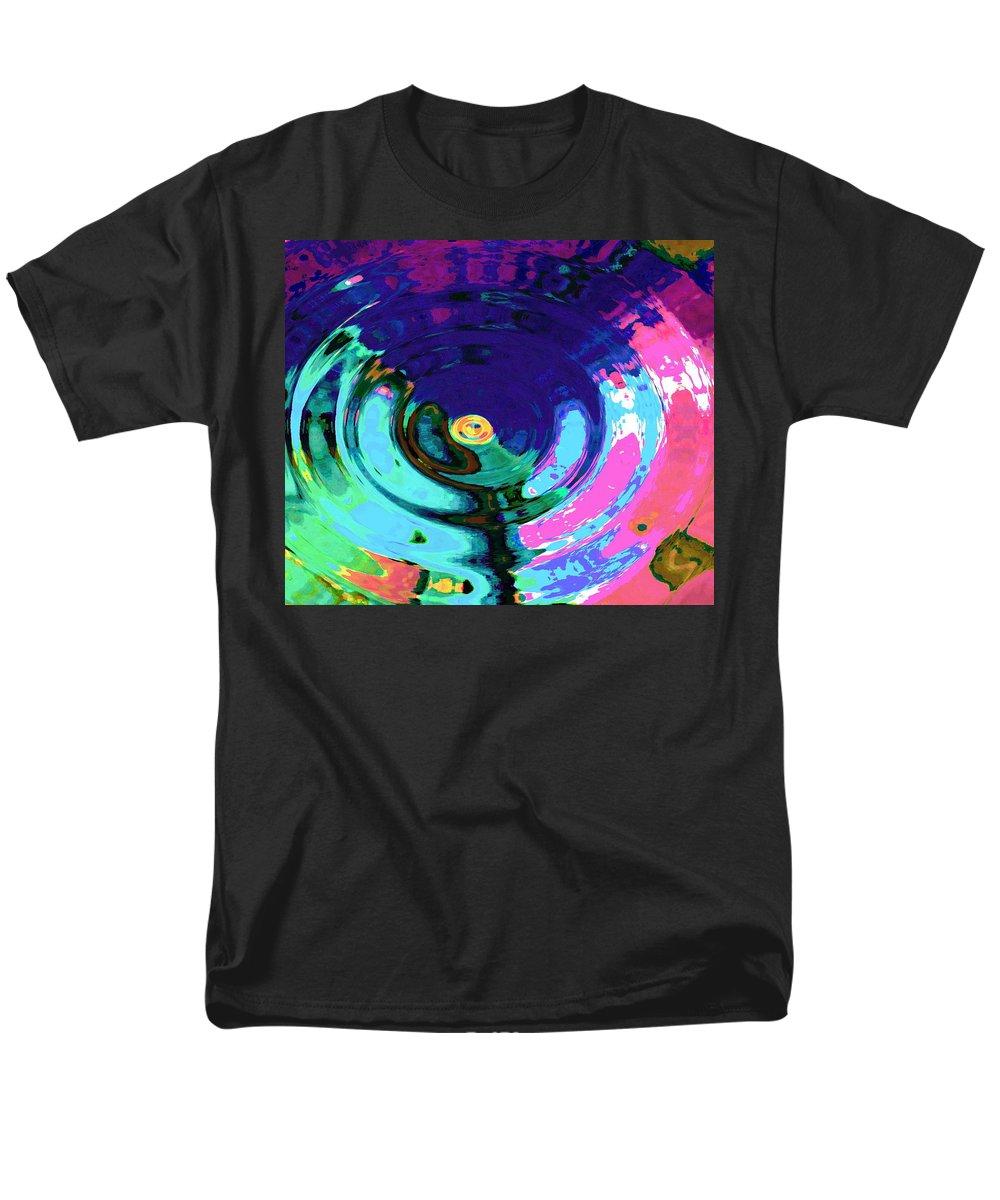 Blue Men's T-Shirt (Regular Fit) featuring the digital art Infinity by Natalie Holland