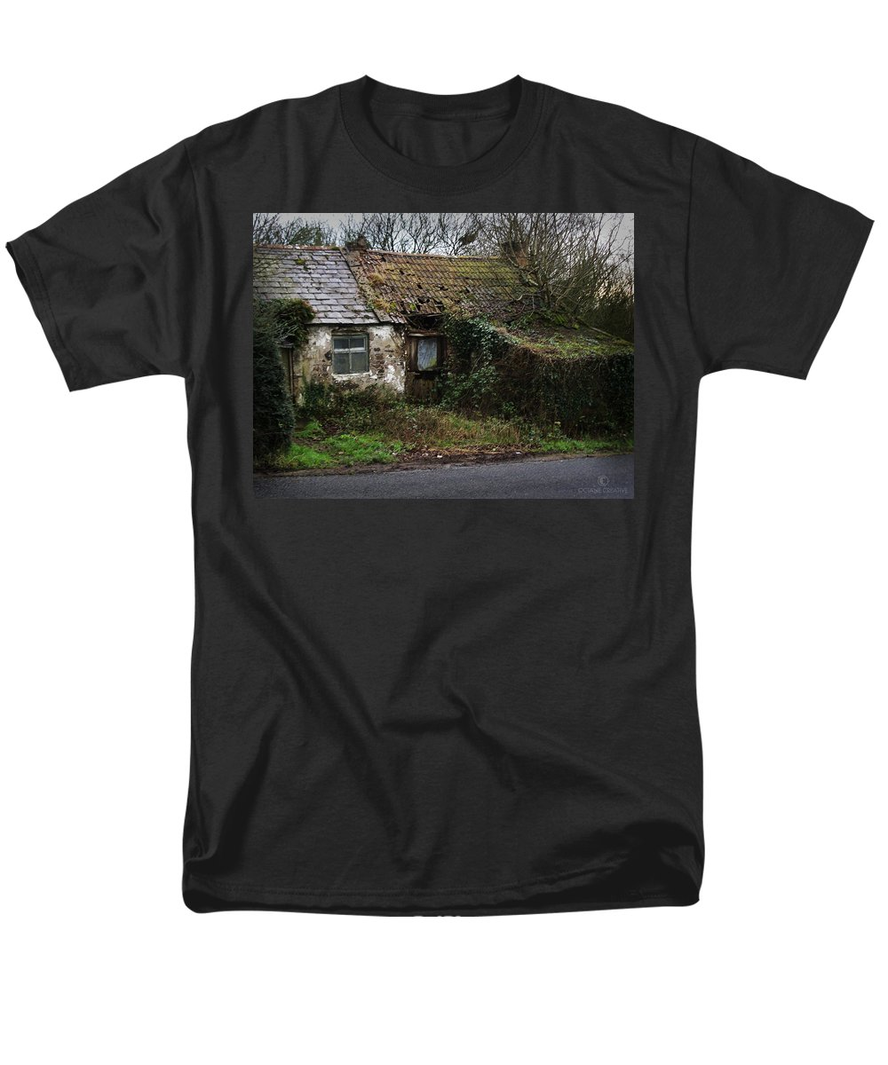 Hovel Men's T-Shirt (Regular Fit) featuring the photograph Irish Hovel by Tim Nyberg