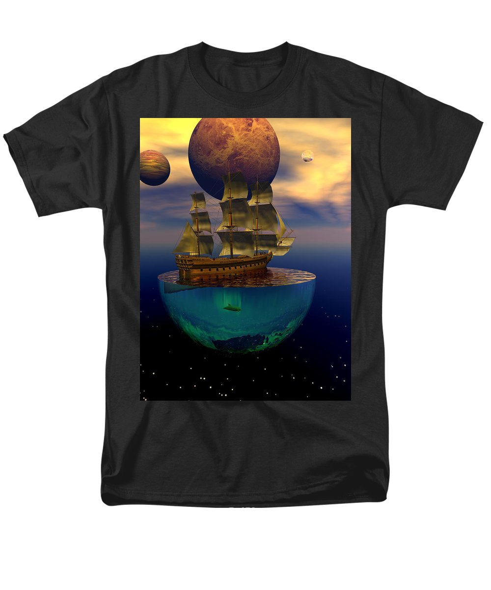 Bryce Men's T-Shirt (Regular Fit) featuring the digital art Journey into imagination by Claude McCoy