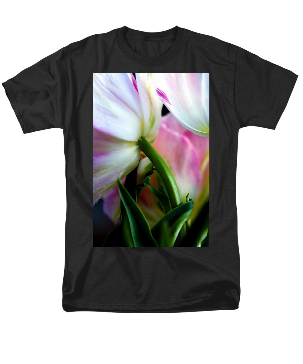 Flower Men's T-Shirt (Regular Fit) featuring the photograph Layers Of Tulips by Marilyn Hunt