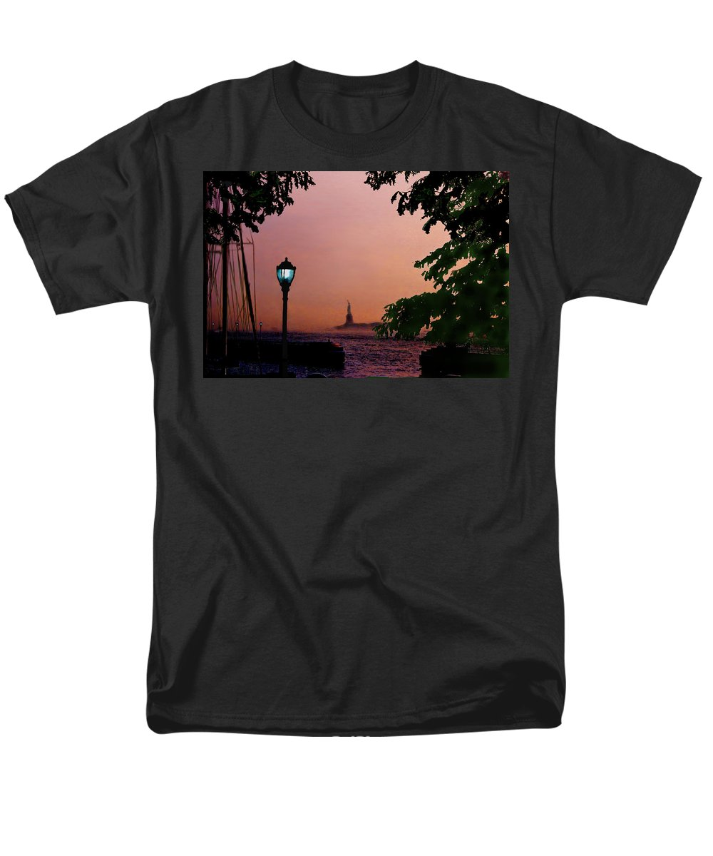 Seascape Men's T-Shirt (Regular Fit) featuring the digital art Liberty Fading seascape by Steve Karol