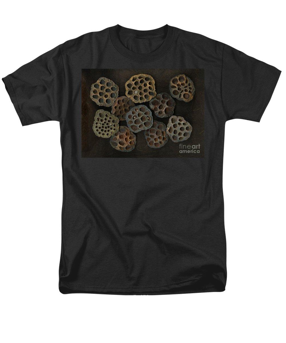 Lotus Men's T-Shirt (Regular Fit) featuring the photograph Lotus Pods by Christian Slanec