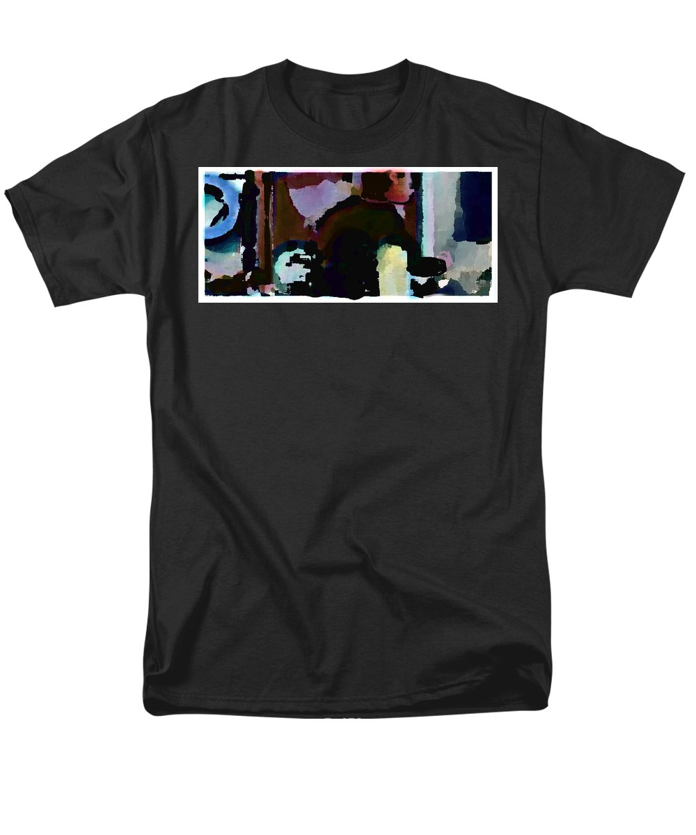 Abstract Expressionism Men's T-Shirt (Regular Fit) featuring the painting Lunch Counter by Steve Karol