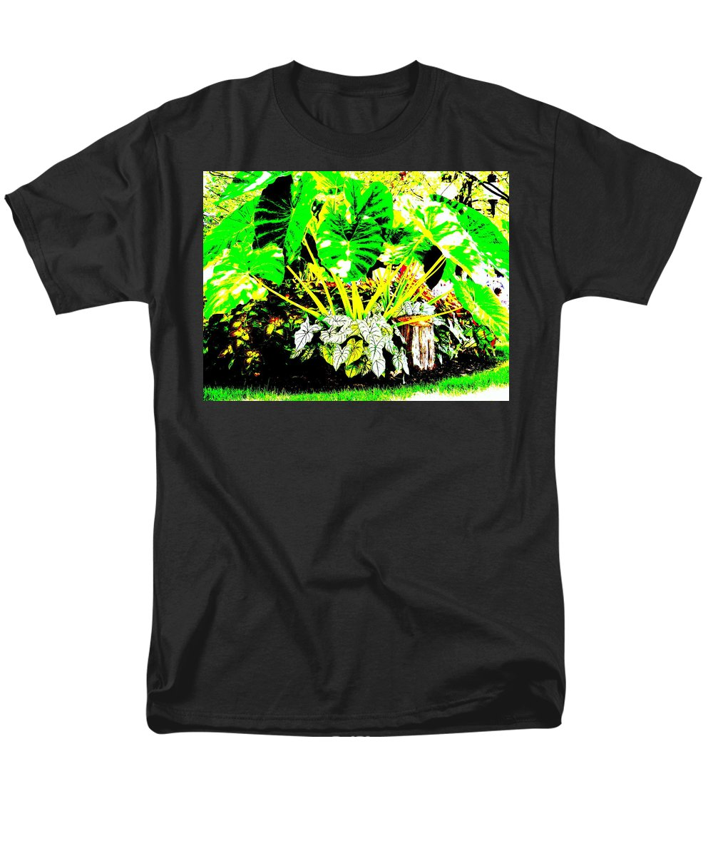 Plants Men's T-Shirt (Regular Fit) featuring the photograph Lush Garden by Edward Smith