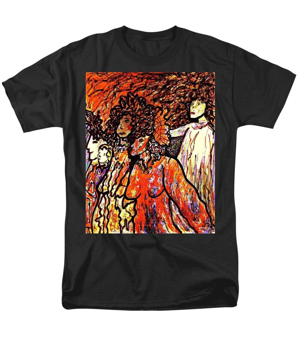 Figurative Art Men's T-Shirt (Regular Fit) featuring the painting Musical Recital by Natalie Holland
