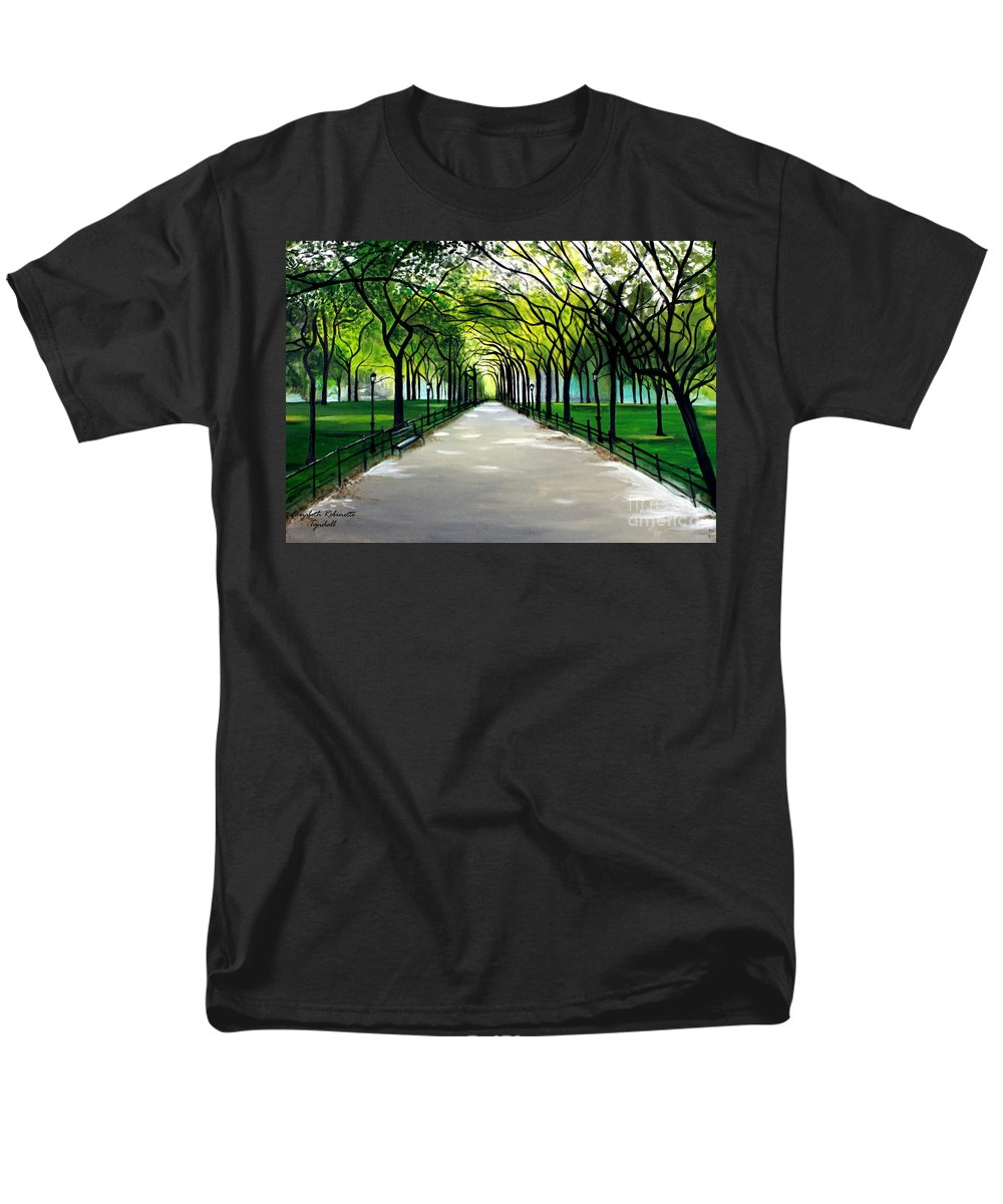 Landscape Men's T-Shirt (Regular Fit) featuring the painting My Poet's Walk by Elizabeth Robinette Tyndall