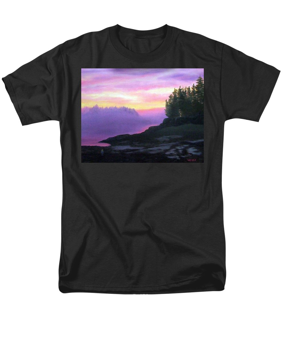 Sunset Men's T-Shirt (Regular Fit) featuring the painting Mystical Sunset by Sharon E Allen