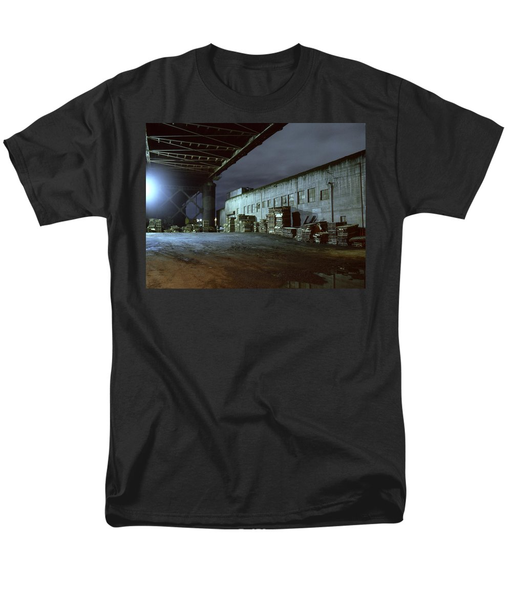 Nightscape Men's T-Shirt (Regular Fit) featuring the photograph Nightscape 1 by Lee Santa