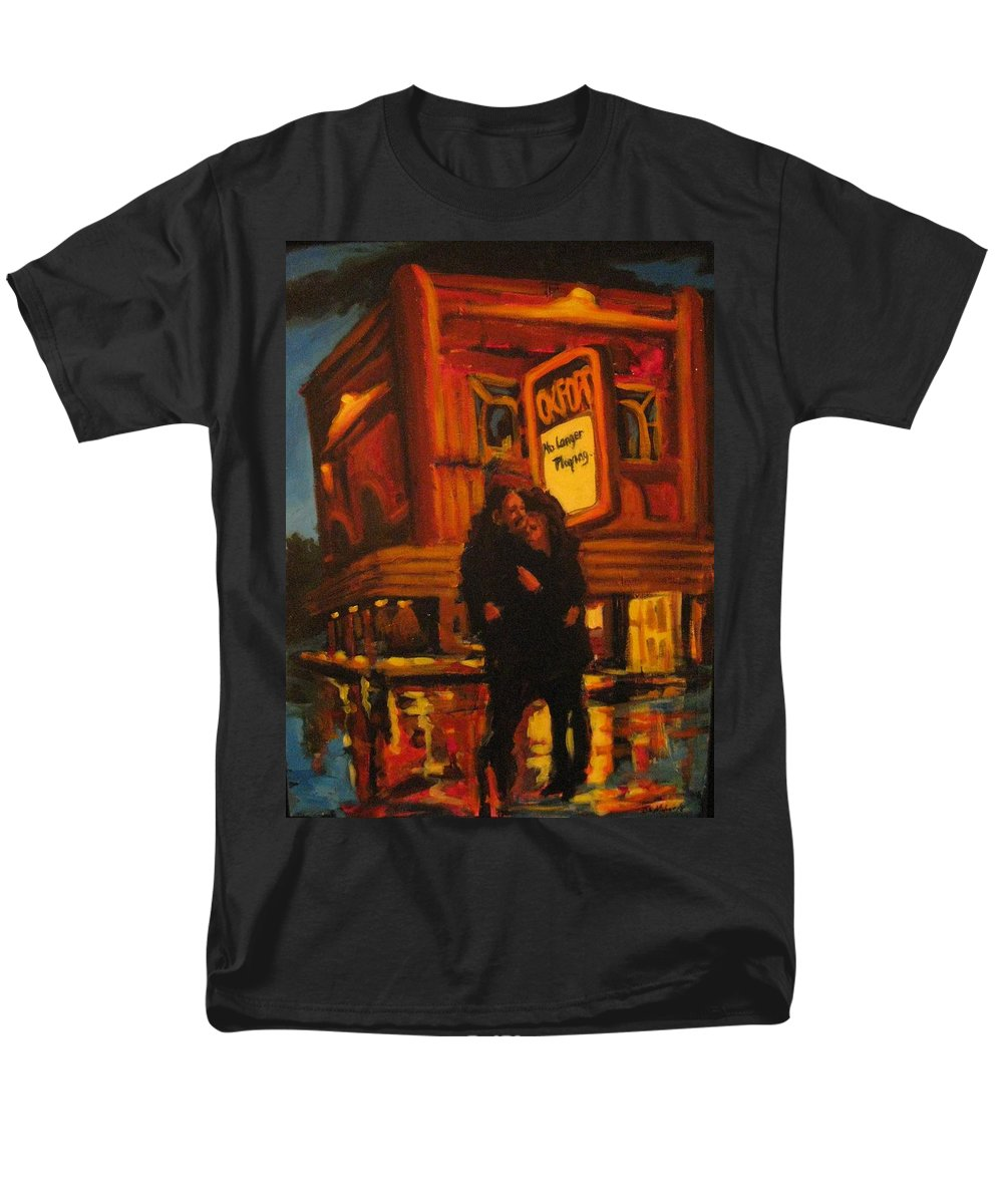 Wet Streets Men's T-Shirt (Regular Fit) featuring the painting No Longer Playing by John Malone