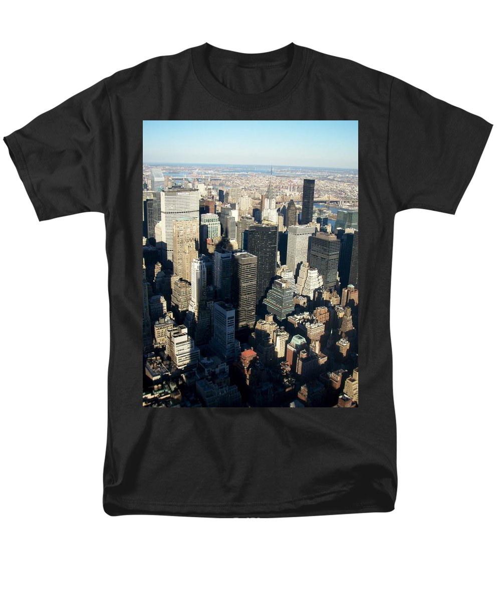 Nyc Men's T-Shirt (Regular Fit) featuring the photograph Nyc 3 by Anita Burgermeister