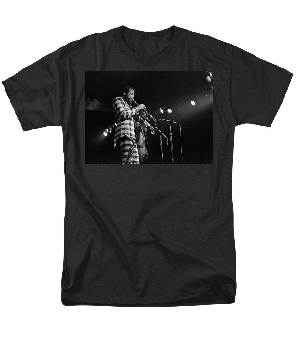 Ornette Colman Men's T-Shirt (Regular Fit) featuring the photograph Ornette Coleman on Trumpet by Lee Santa