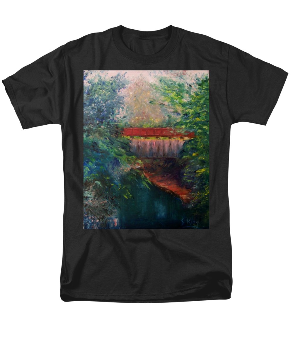 Landscape Men's T-Shirt (Regular Fit) featuring the painting Parke County by Stephen King