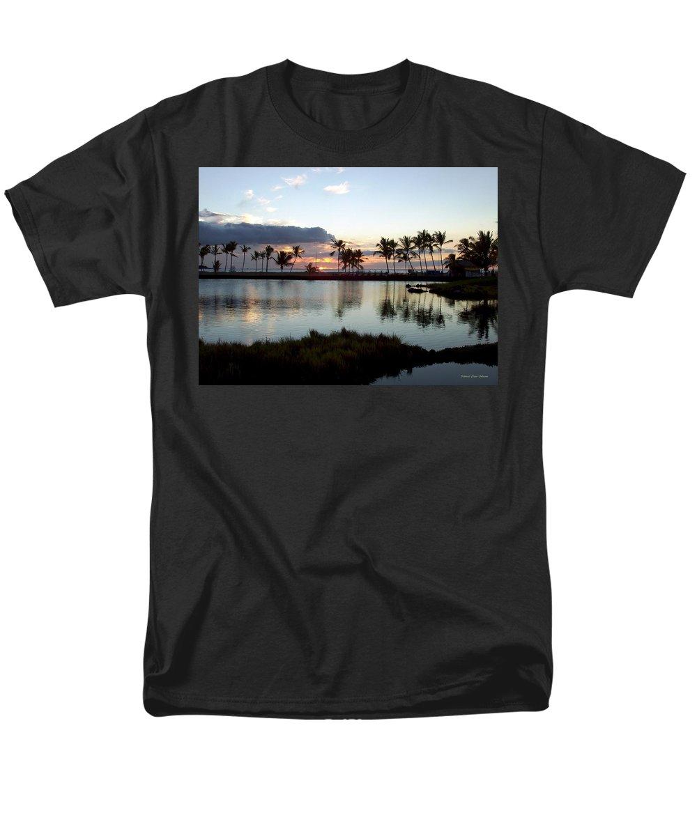 Sunset Men's T-Shirt (Regular Fit) featuring the photograph Peaceful Sunset by Deborah Crew-Johnson