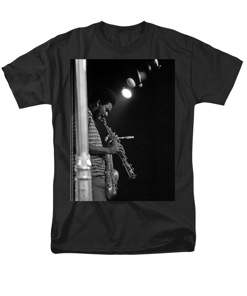 Pharoah Sanders Men's T-Shirt (Regular Fit) featuring the photograph Pharoah Sanders 1 by Lee Santa