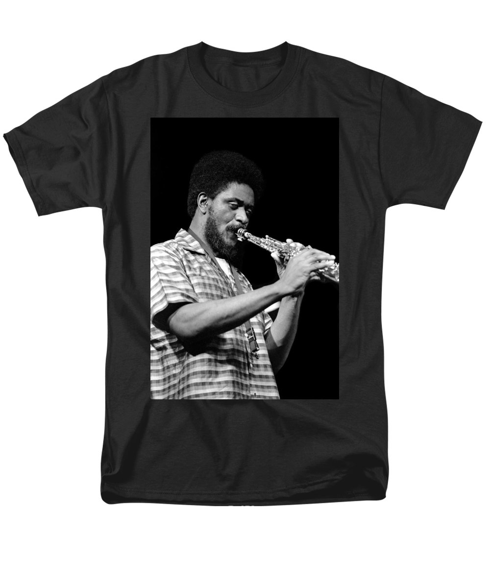 Pharoah Sanders Men's T-Shirt (Regular Fit) featuring the photograph Pharoah Sanders 3 by Lee Santa