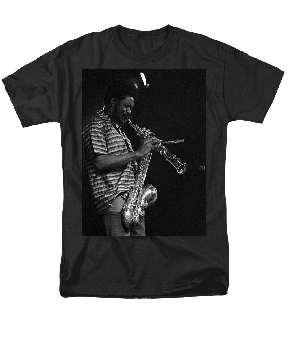Pharoah Sanders Men's T-Shirt (Regular Fit) featuring the photograph Pharoah Sanders 4 by Lee Santa