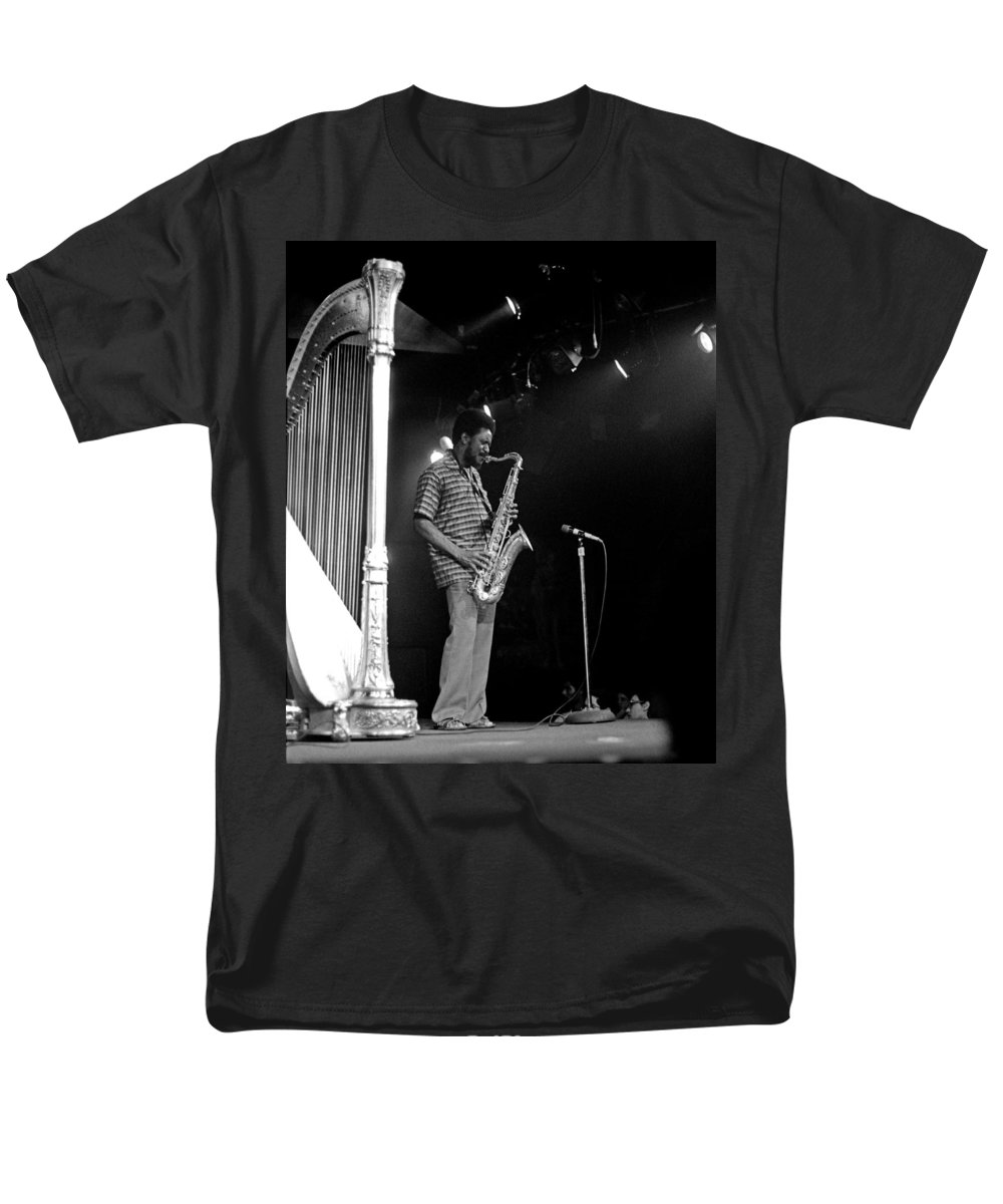 Pharoah Sanders Men's T-Shirt (Regular Fit) featuring the photograph Pharoah Sanders 5 by Lee Santa