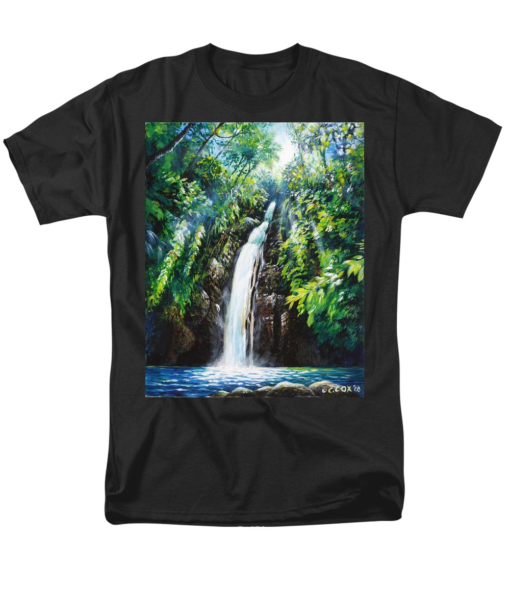 Chris Cox Men's T-Shirt (Regular Fit) featuring the painting Pristine by Christopher Cox