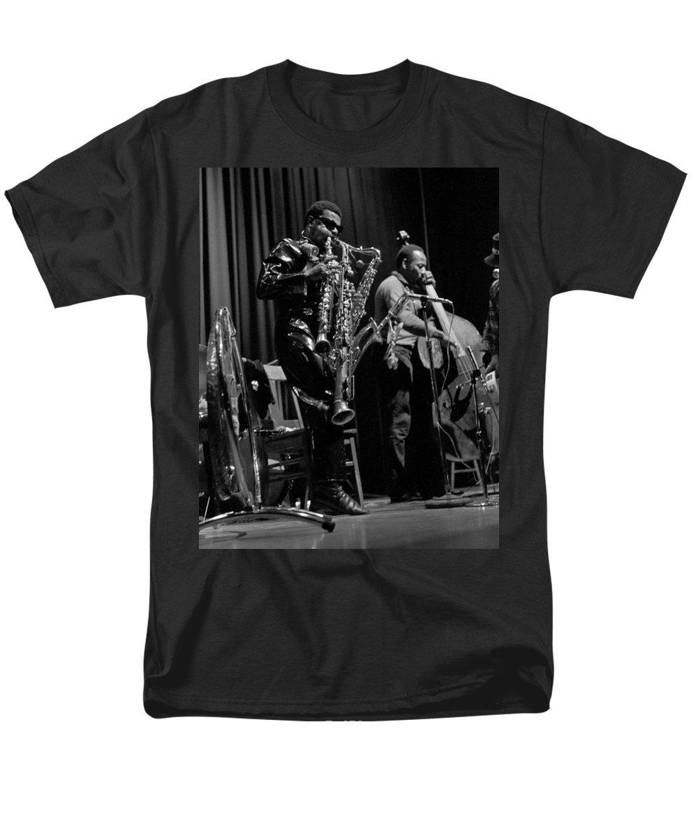 Rahsaan Roland Kirk Men's T-Shirt (Regular Fit) featuring the photograph Rahsaan Roland Kirk 1 by Lee Santa