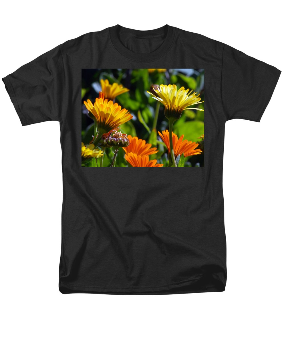 Flower Men's T-Shirt (Regular Fit) featuring the photograph Reach for the Sun 1 by Amy Fose