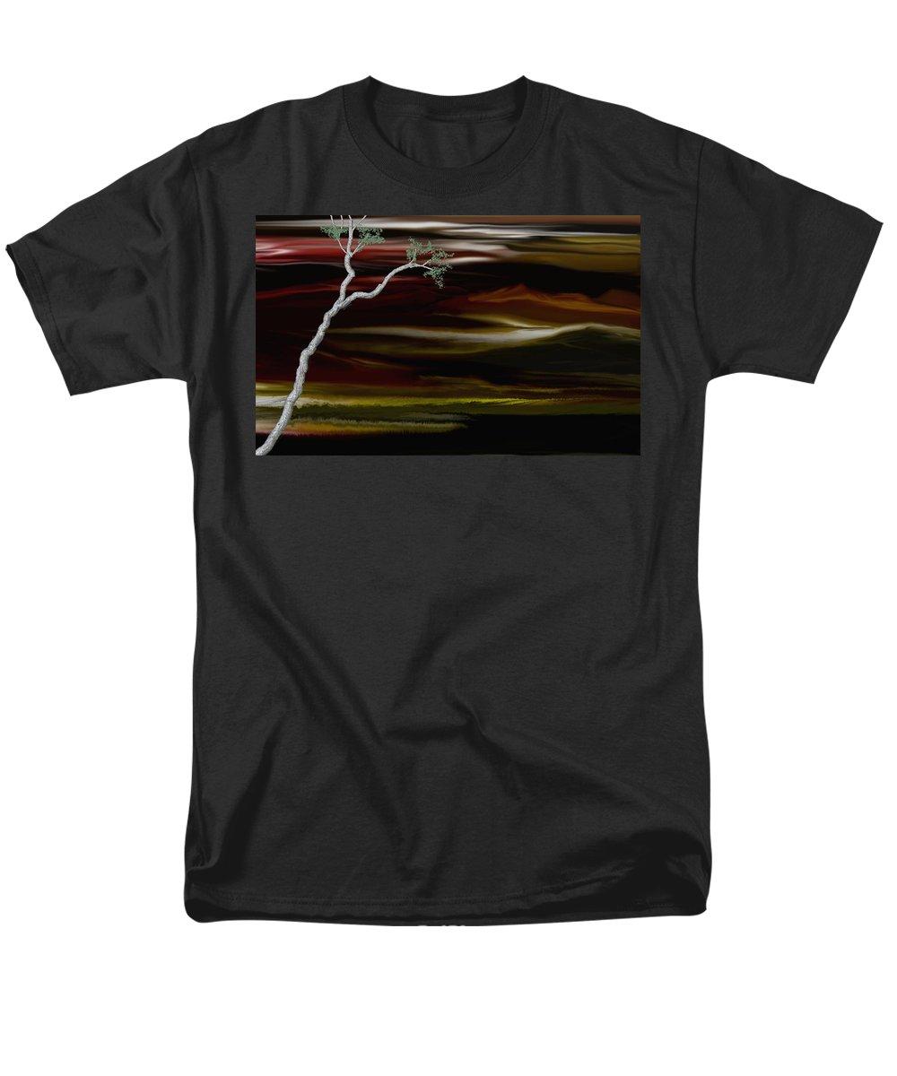 Digital Landscape Men's T-Shirt (Regular Fit) featuring the digital art Redscape by David Lane