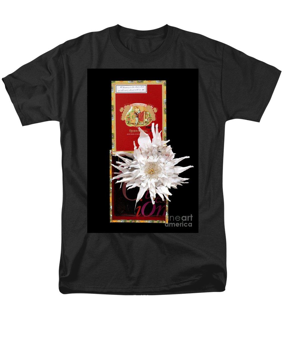 Cigar Box Men's T-Shirt (Regular Fit) featuring the mixed media Romeo and Julietta by Jaime Becker