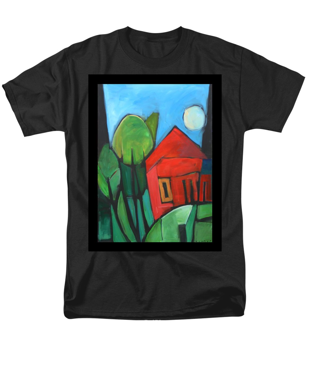 Trees Men's T-Shirt (Regular Fit) featuring the painting Root Cellar by Tim Nyberg