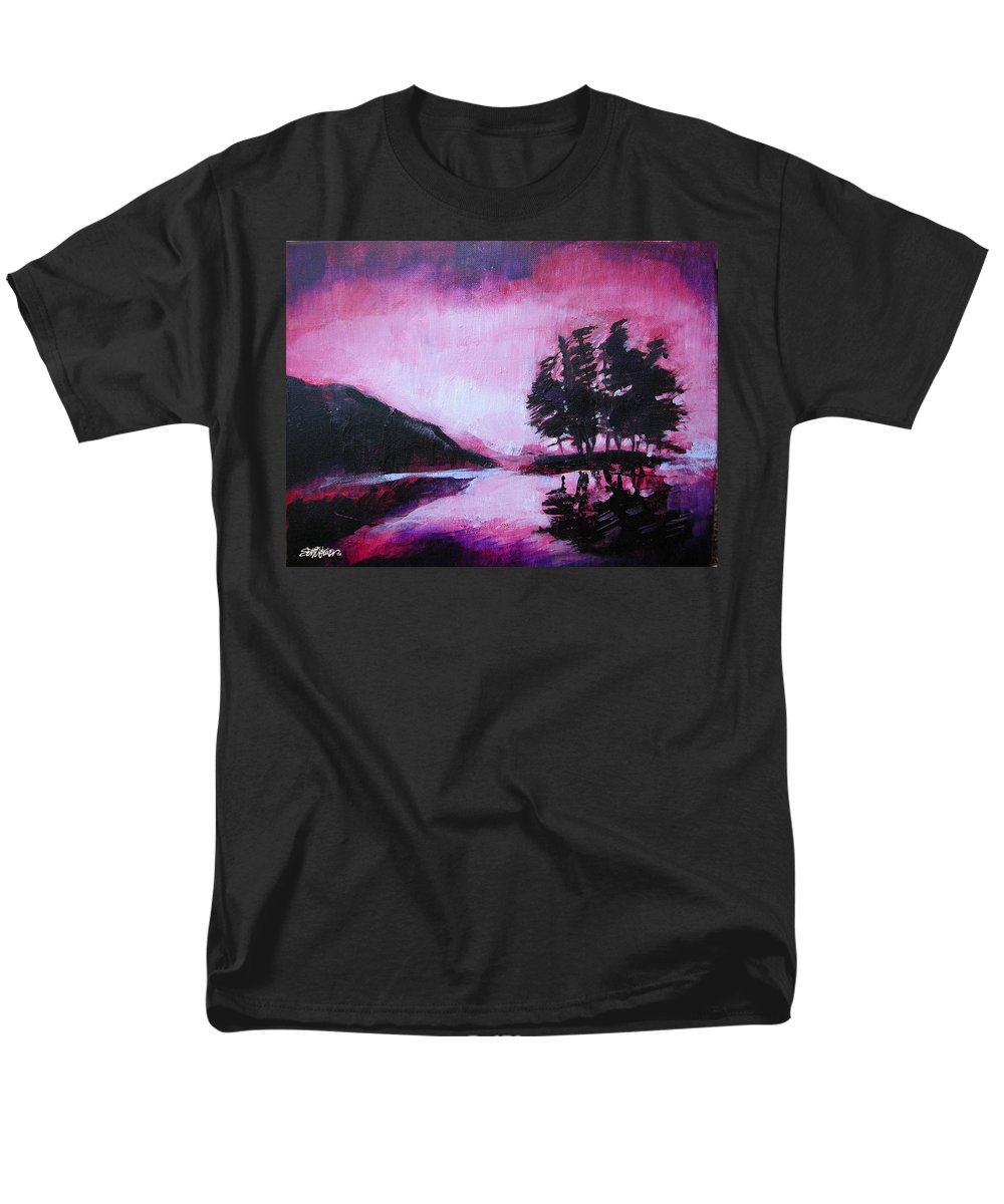 Ruby Dawn Men's T-Shirt (Regular Fit) featuring the painting Ruby Dawn by Seth Weaver